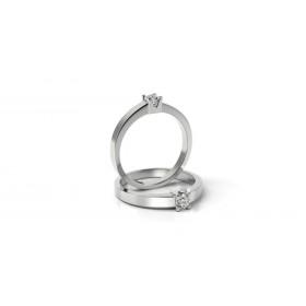 7fb4d8224 Zásnubný prsteň z bieleho zlata s briliantom