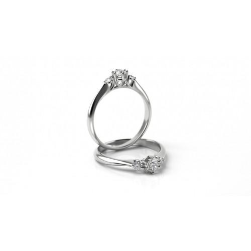 71995cfe4 Zásnubný prsteň z bieleho zlata s briliantom | Hodinky a Šperky Lion