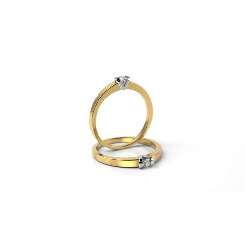 05026685c Zásnubný prsteň zo žltého a bieleho zlata s briliantom | Hodinky a ...