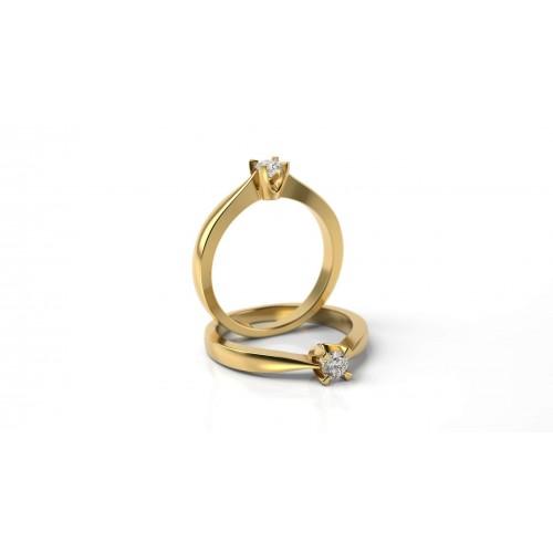 78995b4ca Zásnubný prsteň zo žltého zlata s briliantom | Hodinky a Šperky Lion